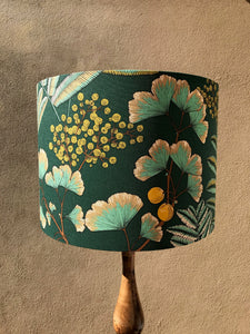 RESERVED - Ginkgo Grass Tree Table Lamp & Make Up Pouches