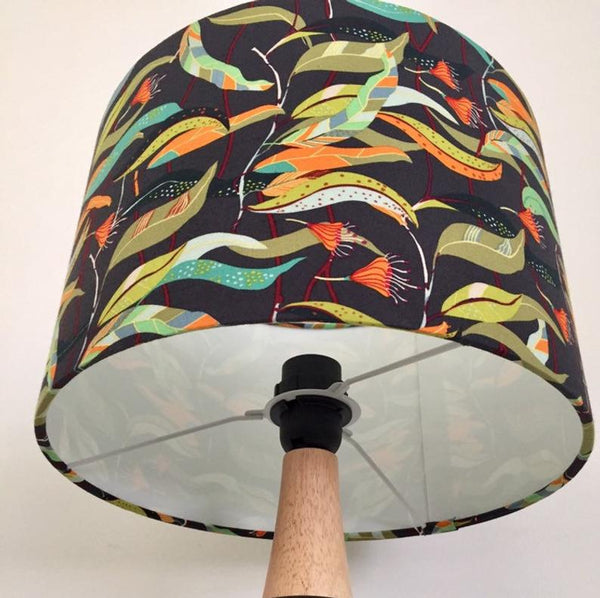 Green Gum Leaves Lampshade