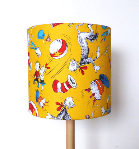 The Cat in the Hat Lampshade | Dr Seuss | Yellow | Handmade in Australia