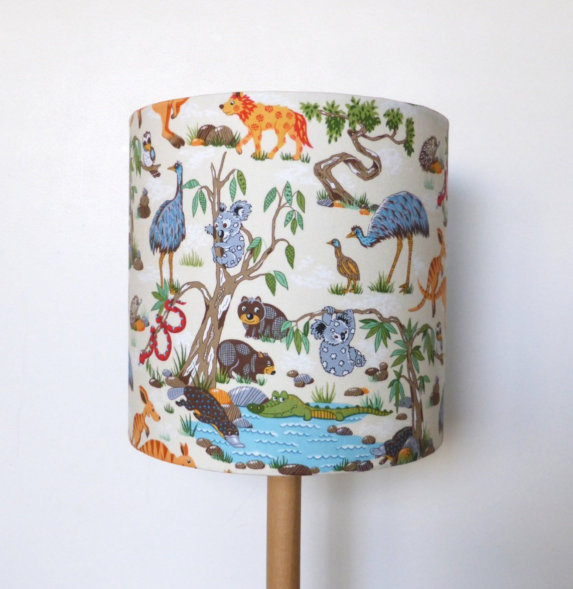 Australian Outback Animals Lampshade | Nursery Lighting