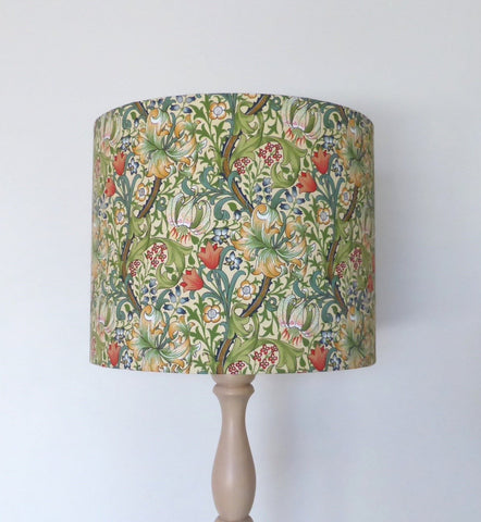 William Morris Golden Lily Lampshade - GREEN