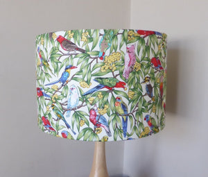 Australian Birds Lampshade - CREAM