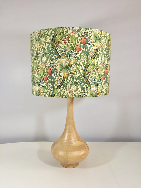 William Morris  Golden Lily Lampshade | Floral Vines | Vintage Wallpaper Style| Handmade in Australia