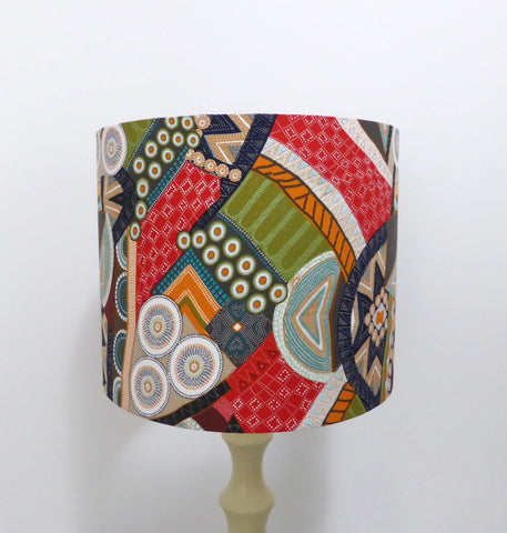 Bindoon Lampshade - Aboriginal Design