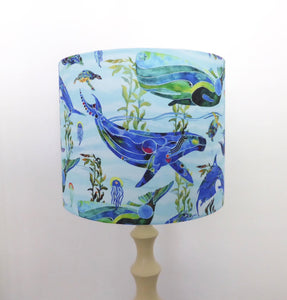 Marine Life Lampshade | Under the sea | Whales and Dolphins | Turtles | Handmade in Australia
