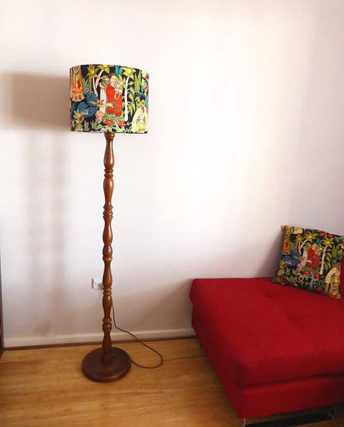 Frida Kahlo Lampshade -BLACK