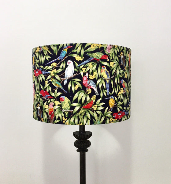Australian Birds Lampshade - MIDNIGHT BLUE