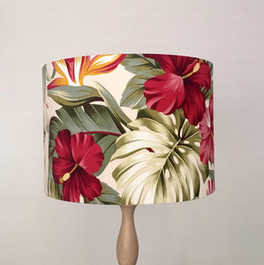 Hibiscus Lampshade | Tropical Lamp Shade | Handmade in Australia