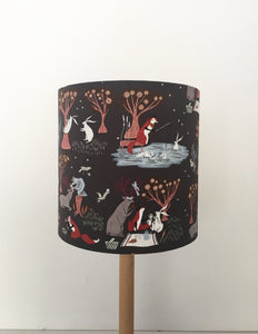 Woodlands Lampshade | Kids room decor | Rabbit and Foxes | Forest Animals