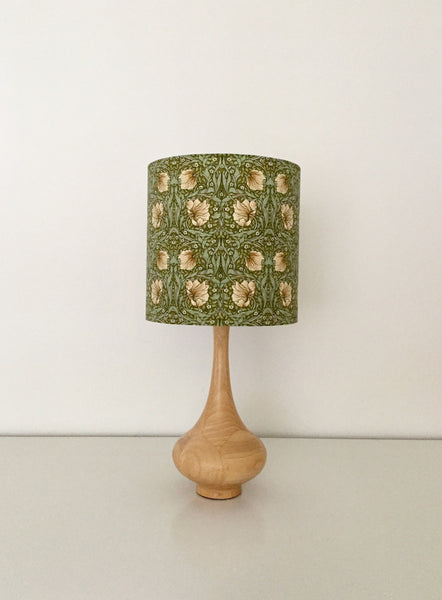 William Morris Pimpernel Green Lampshade | Handmade in Australia