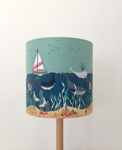 Mermaid Sisters Lampshade | Nautical | Children Lighting | Handmade in Australia