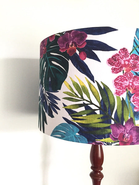 Orchid Lamshade - Palm Lampshade |  Handmade in Western Australia