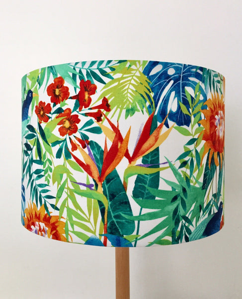 Protea & Blue Bird Lampshade