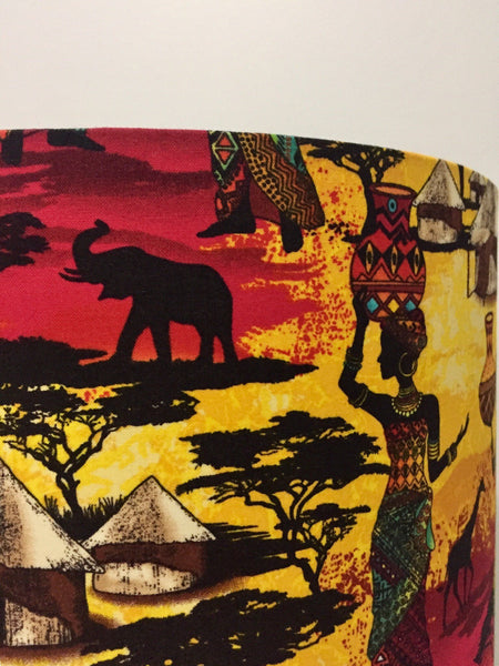 East African Village Lamp Shade | Africa | African lampshade