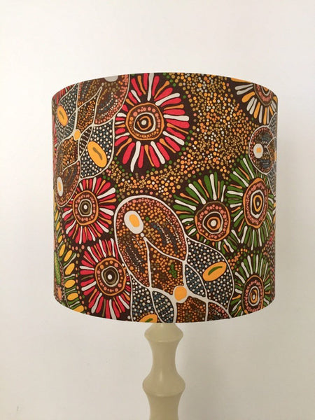 Bush Tucker After Rain Aboriginal Lampshade
