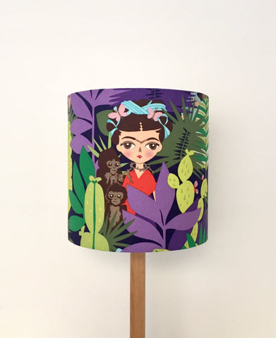 Frida Kahlo & Monkey Children Lampshade