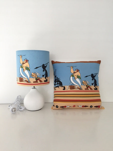 Comic Characters - Asterix and Obelix - Lamp & Cushion