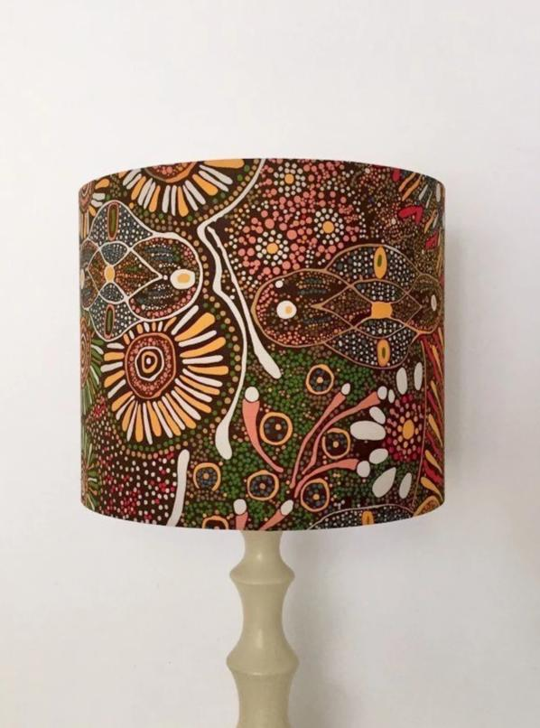 Aboriginal Lampshade - Bush Tucker After Rain Lampshade
