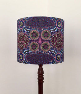 Wild Bush Flowers Purple Lampshade