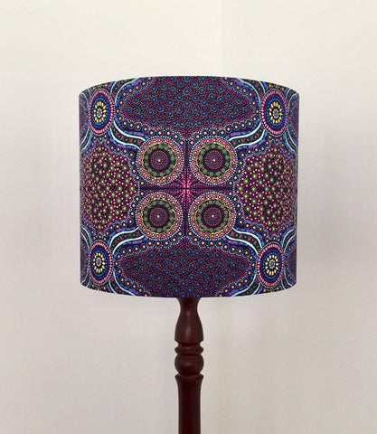 Aboriginal Wild Bush Flowers Purple Lampshade