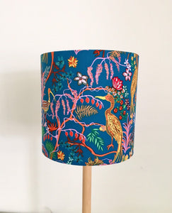 Floral Blue Lampshade | Fabric Lampshade | Colourful | Handmade in Australia