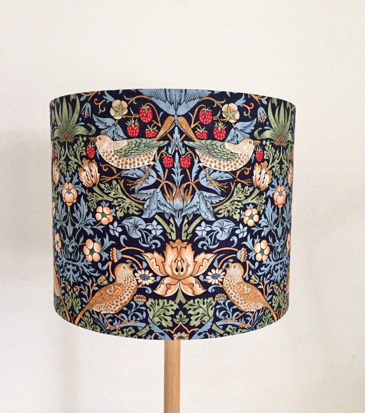 Strawberry Thief Lampshade | William Morris Lamp Shade | Handmade in Australia
