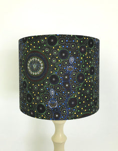 Spiritual Women | Aboriginal Fabric Lampshade | Black | Australian Fabric