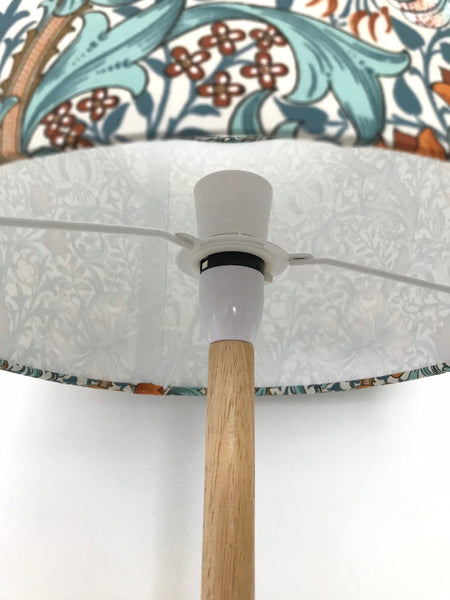 William Morris Golden Lily Lampshade (AQUA BLUE)