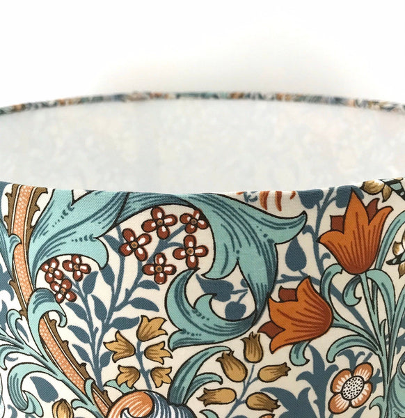 William Morris Golden Lily Lampshade - AQUA BLUE