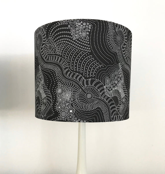 Dreamtime Riverbed Aboriginal Lampshade