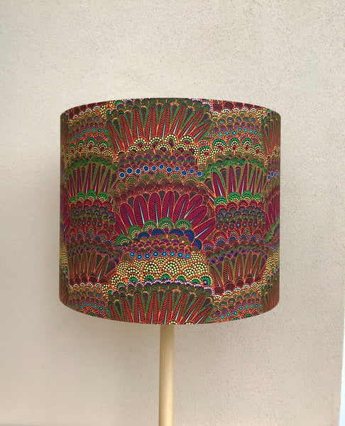 Colourful Feathers Lampshade