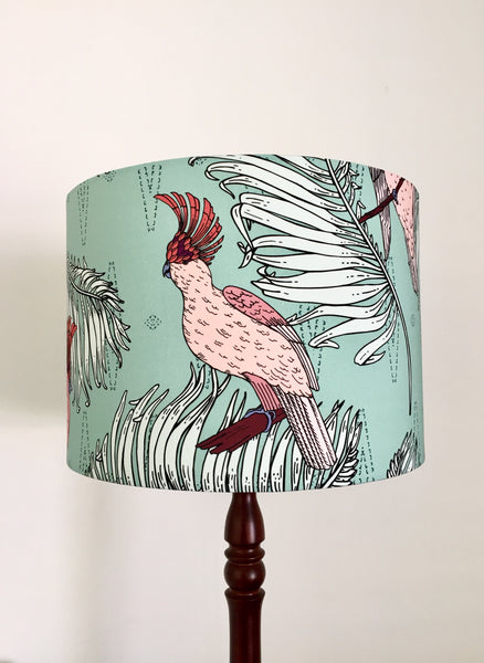 Major Mitchell Cockatoo & Palm Leaves Lampshade