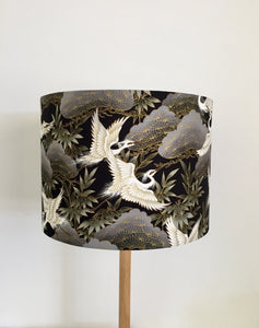 Flying Japanese Cranes Lampshade