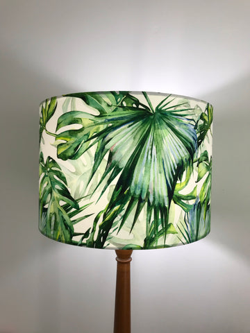 Leafy Tropical Lampshade