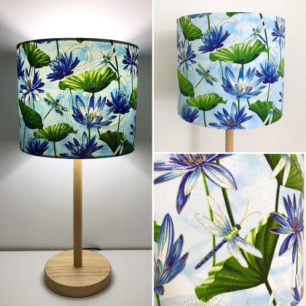 Dragonfly & Lotus Flowers Lampshade