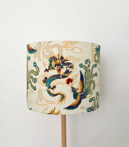 Dragon & Peacock Lampshade