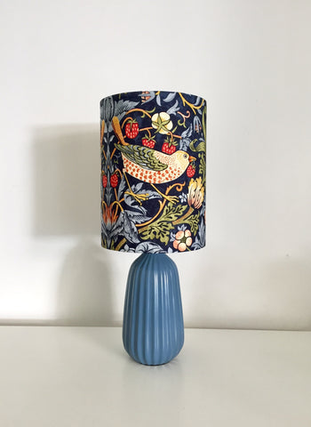 William Morris Strawberry Thief Blue Table Lamp
