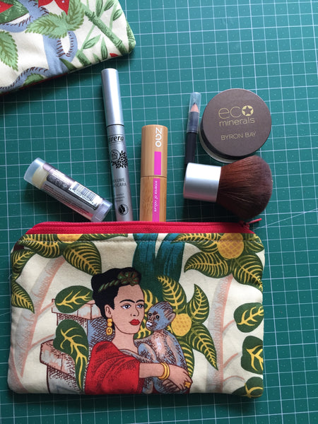 Frida's Garden Make Up Bag - Zippered Pouch