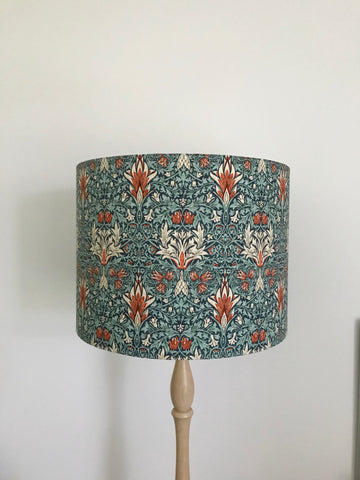 William Morris Snakehead Lampshade - AQUA