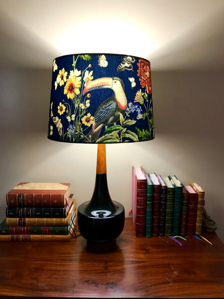 Pair of Retro Toucan Lampshades