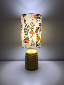Yellow Pin Up Ceramic Table Lamp