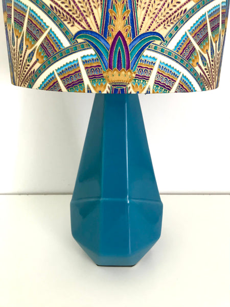 Papyrus Royal Teal Table Lamp