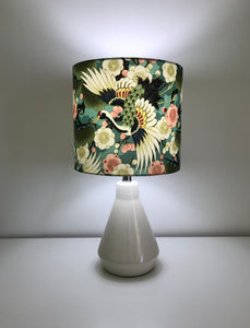 Majestic Japanese Crane Table Lamp