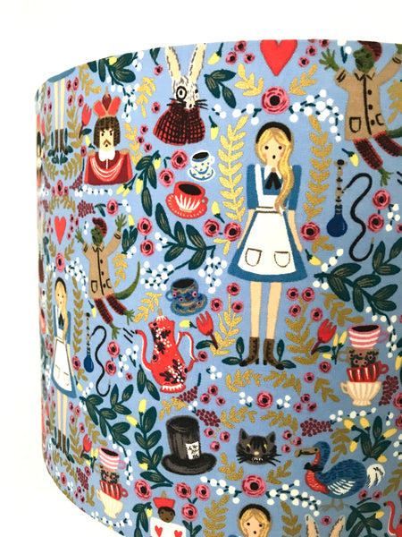Alice In Wonderland Blue Lampshade