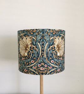 Pimpernel Blue Lampshade | William Morris | Handmade in Australia