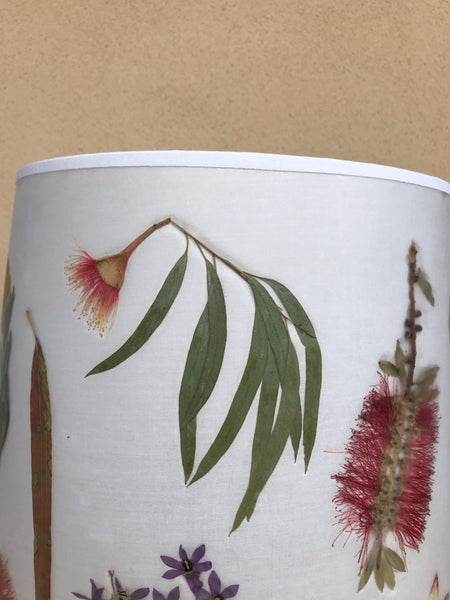 Australian Native Pressed Flowers Lampshade
