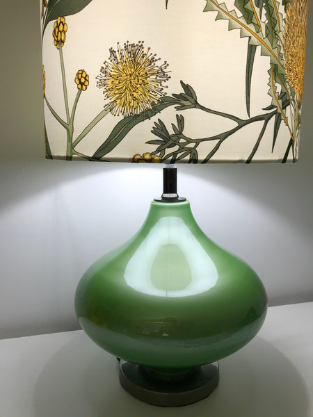 Candlestick Banksia Frosted Glass Table Lamp