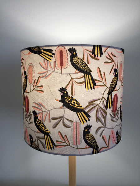 Australian Black Cockatoo Lampshade| Australiana | Lamp Shade