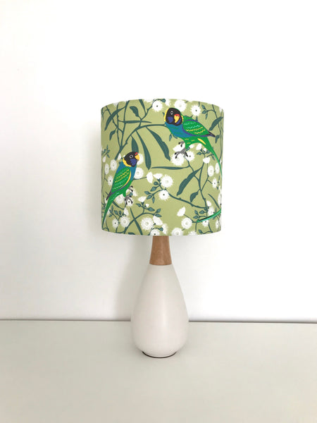 Ringneck Parrot Ceramic & Timber Table Lamp