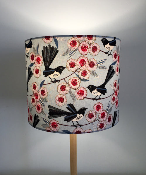 Australian Willy Wag Tail Light Blue Lampshade| Australiana | Lamp Shade